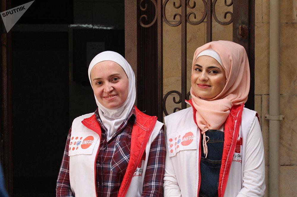 Employées du Centre de secours et de développement à Alep