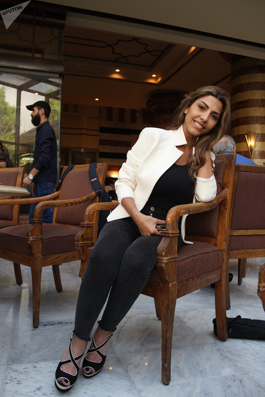 Ghina Nizam, 23 ans, avocate originaire de Damas