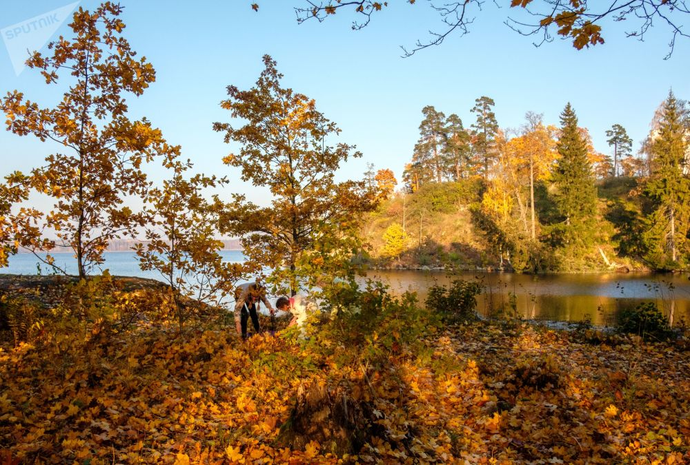 Le parc de Monrepos à Vyborg