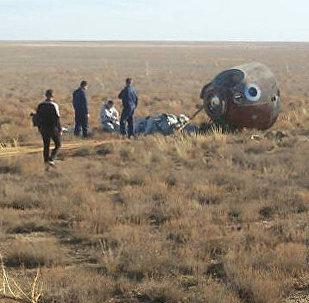 Une capsule Soyouz atterrit dans les steppes du Kazakhstan