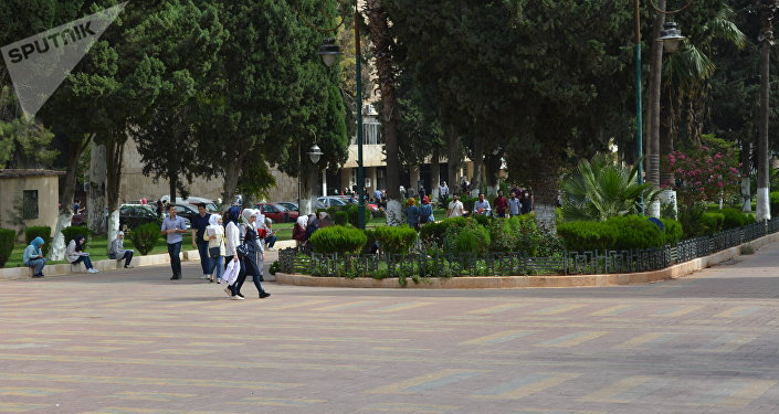 Etudiants à l'université d'Alep