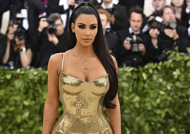 Kim Kardashian à New York à l'ouverture de l'exposition Heavenly Bodies: Fashion and the Catholic Imagination le 7 mai 2018