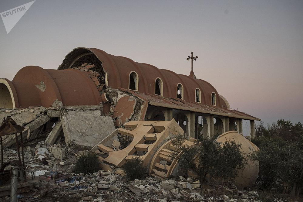 Un village chrétien dans la province d'Hassaké détruit par les terroristes