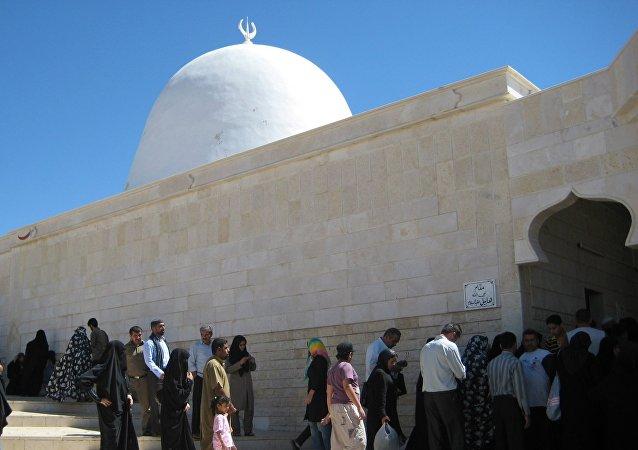 La mosquée de Nabi Habeel: la tombe d'Abel, Syrie