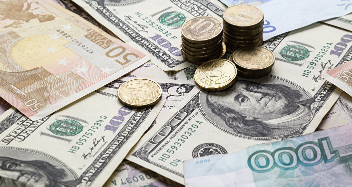 Rouble, dollar US, euro