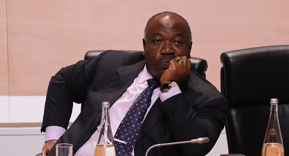 Gabonese President Ali Bongo Ondimba attends a session of the One Planet Summit on December 12, 2017