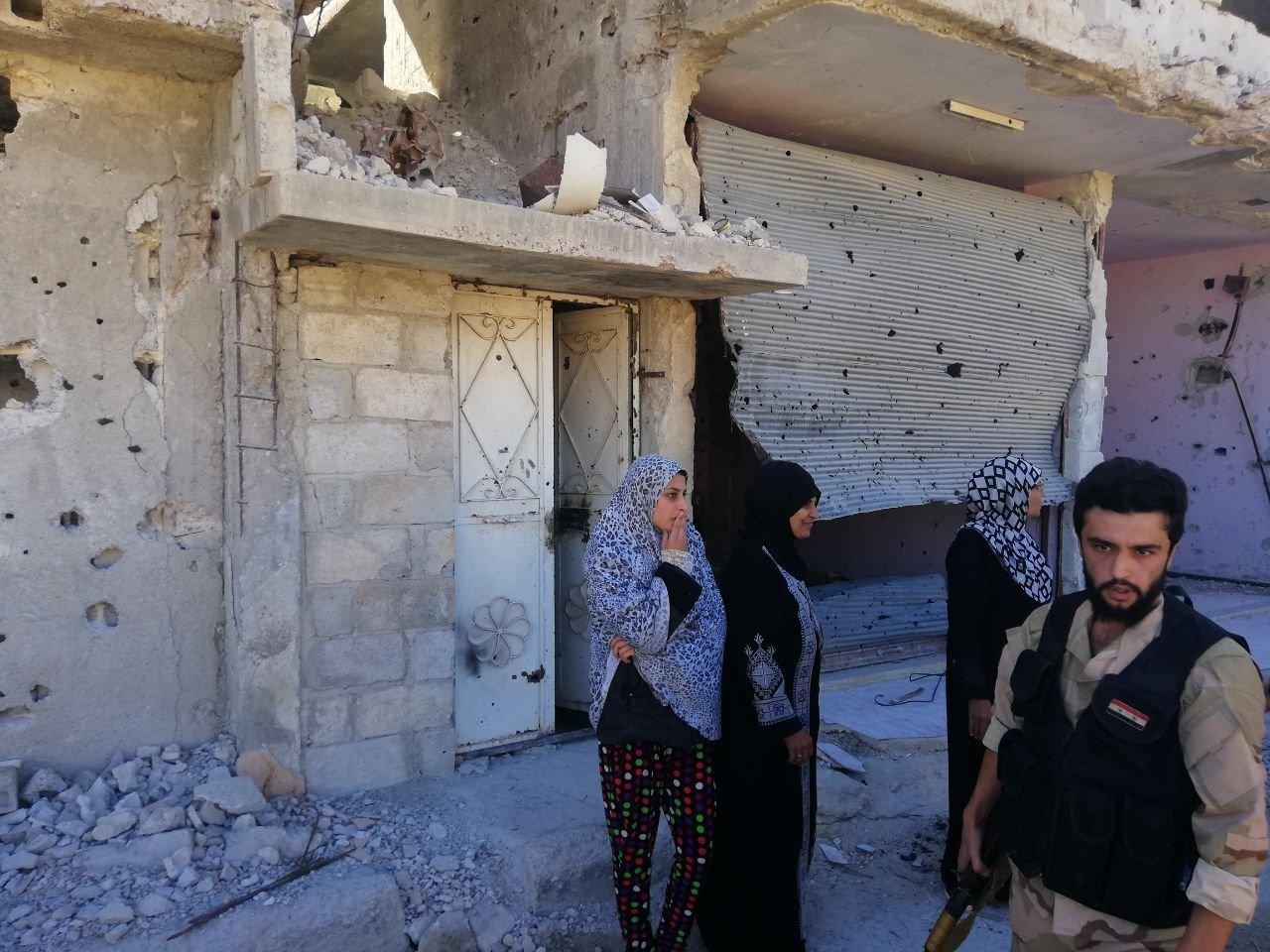 Militaires syriens et réfugiés palestiens