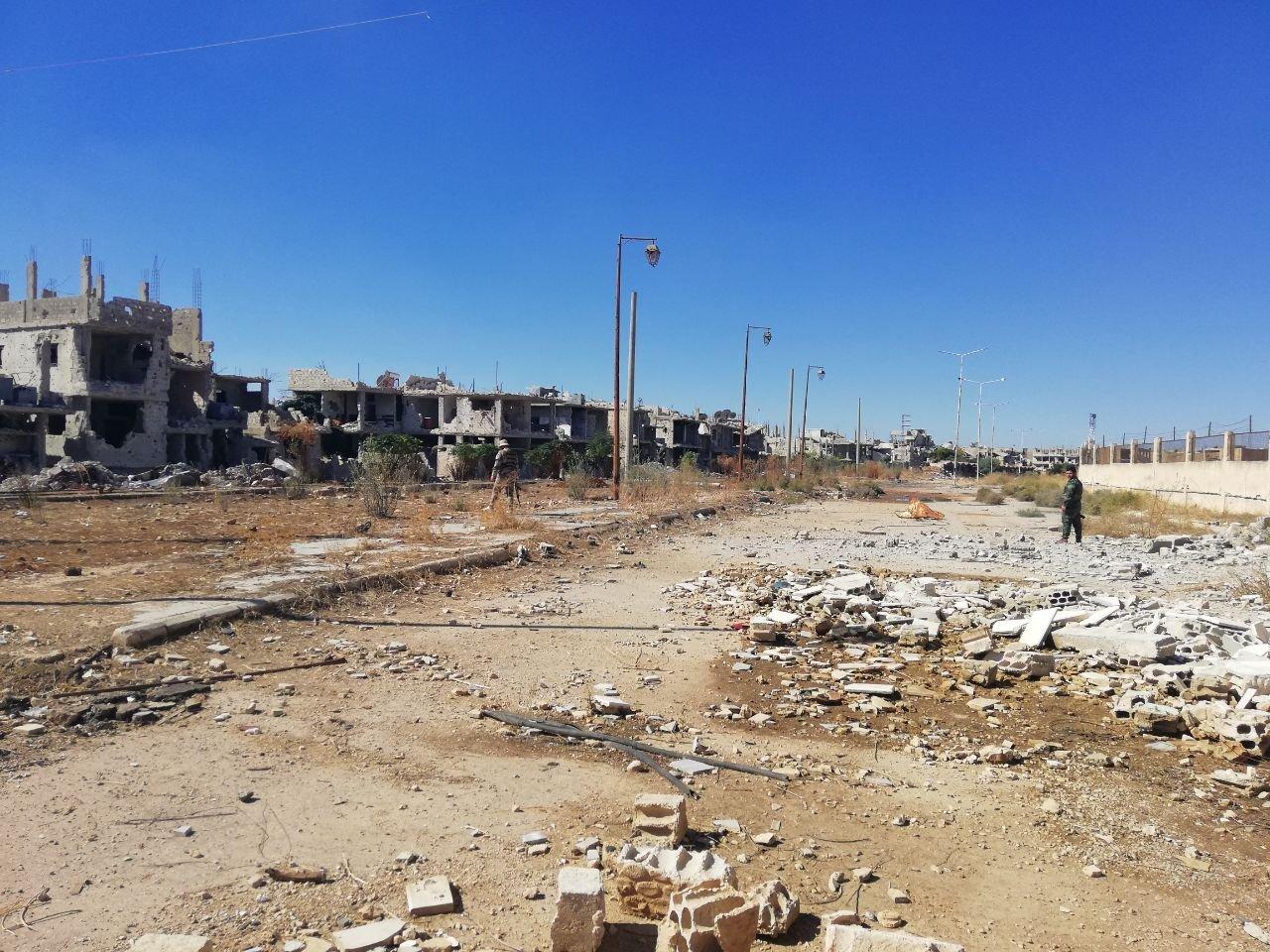 Destructions à Deraa