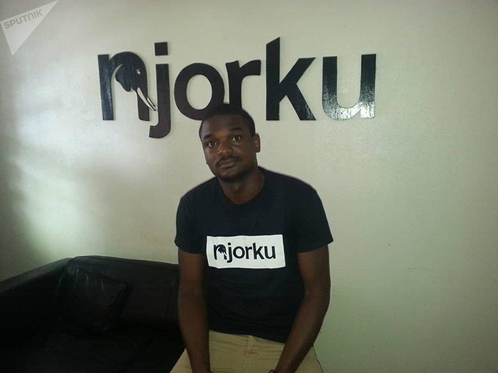 Churchill Mambe, 33 ans, dirige une start-up durement touchée par les troubles