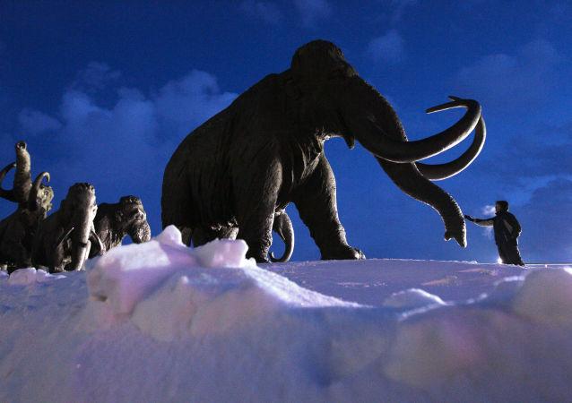 Sculpture de mammouth