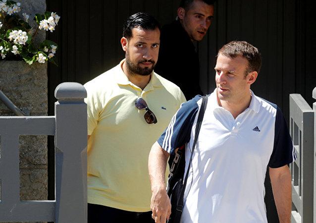Alexandre Benalla et Emmanuel Macron