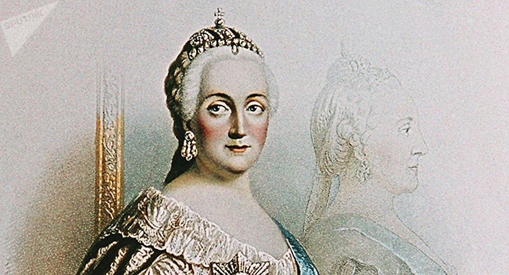 Impératrice Catherine II. Lithographie.