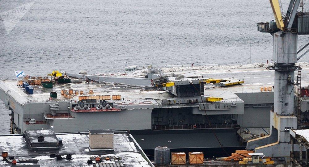 Amiral Kouznetsov après l'accident sur le dock flottant