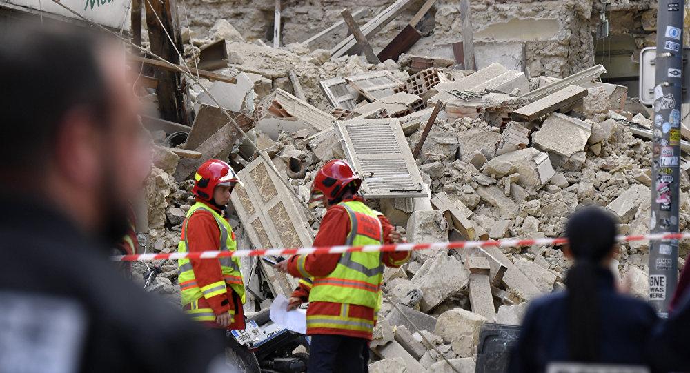 L'effondrement d'un immeuble à Marseille