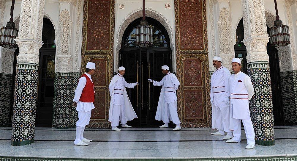 Le légendaire hôtel de Marrakech, La Mamounia. Photo d'archive