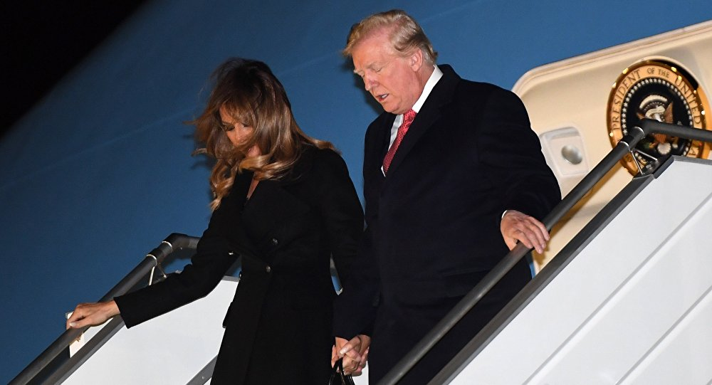 Donald et Melania Trump arrivent à Paris