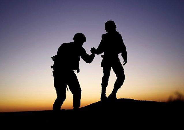 Soldats israéliens dans la bande de Gaza