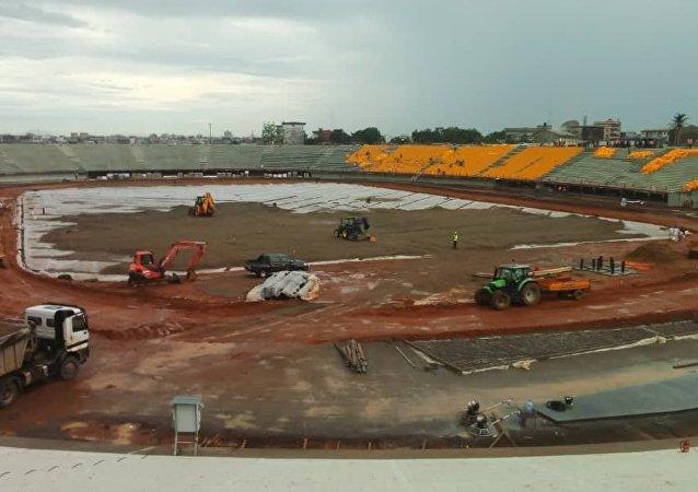 Stade de Japoma, à Douala, Cameroun
