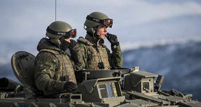 Des militaires de l'Otan lors des exercices Trident Juncture 2018 en Norvège