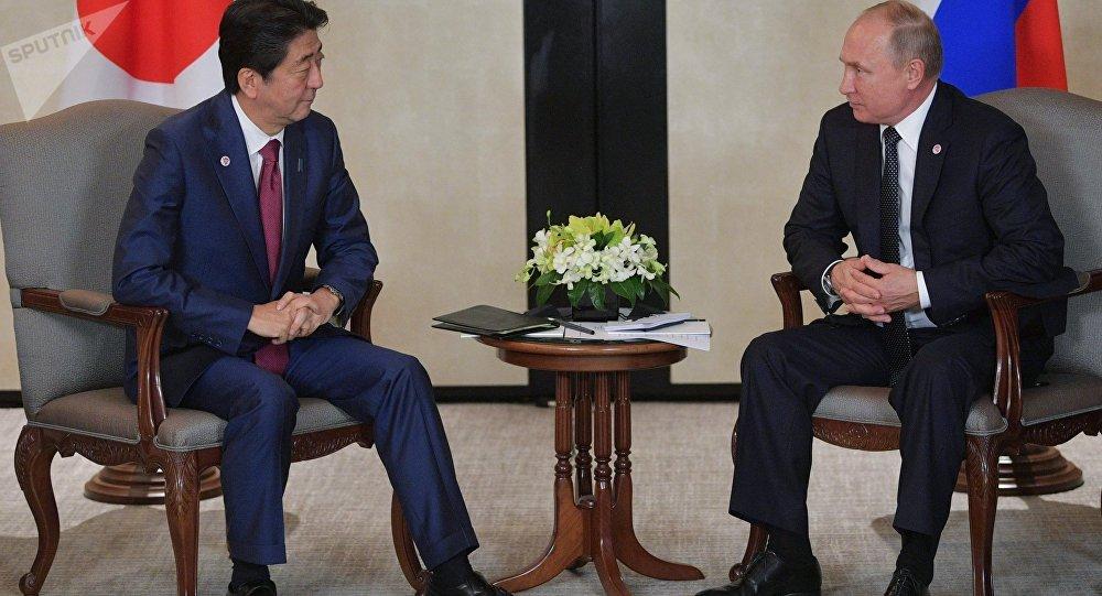 Shinzo Abe et Vladimir Poutine à Singapour