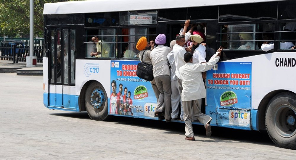 Un bus en Inde / image d'illustration