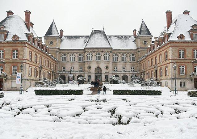 Université de Paris sous la neige