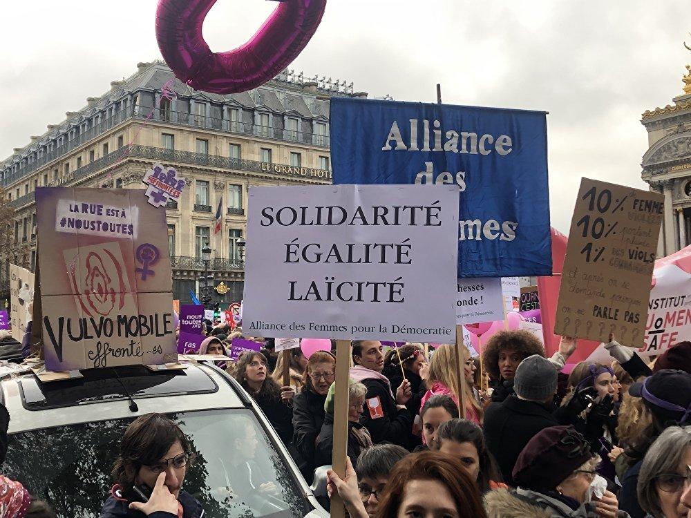 L'événement #JeMarcheLe24, place de l'Opéra à Paris, 24 novembre 2018
