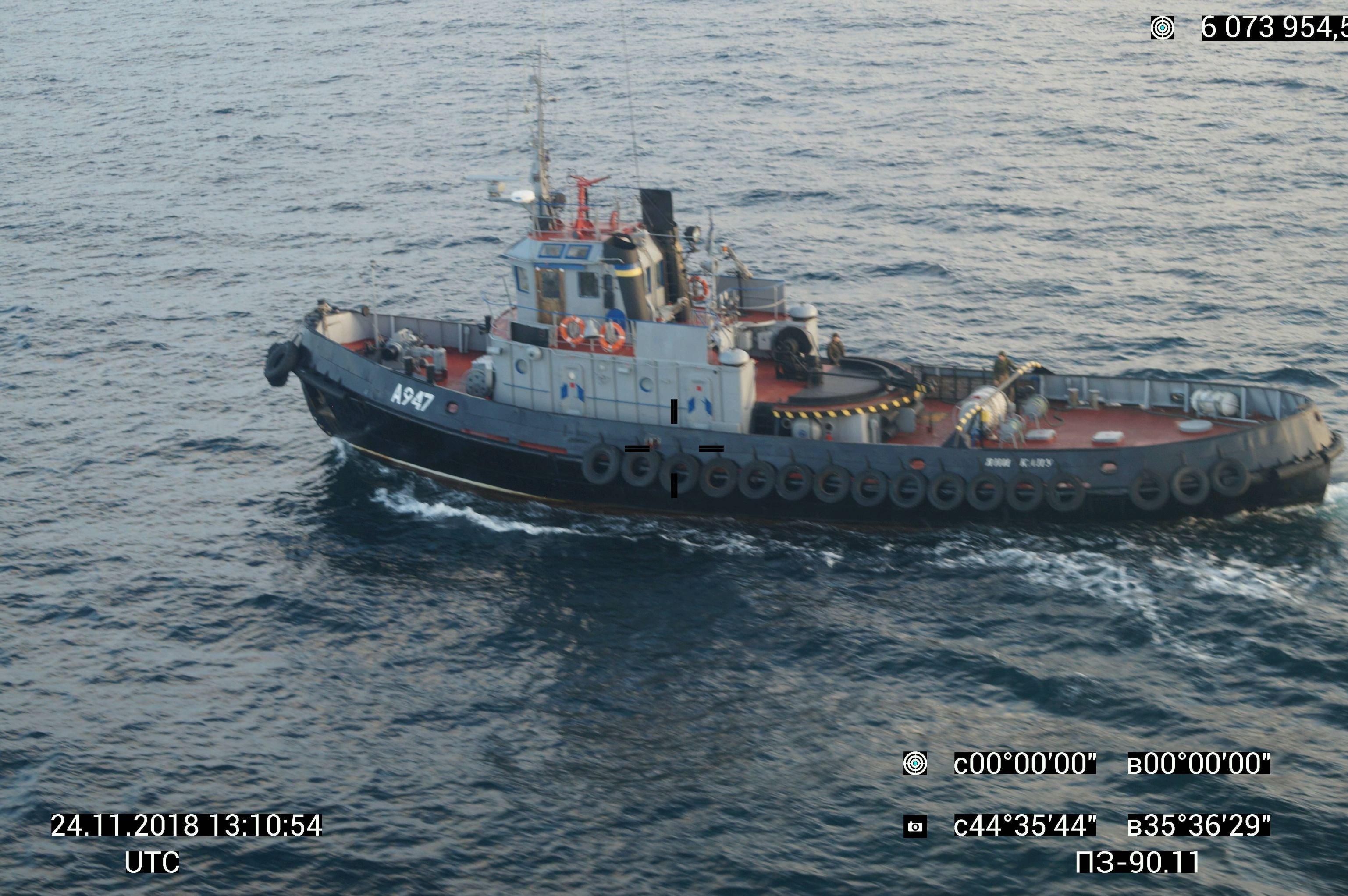 Un navire ukrainien qui a violé l'espace maritime russe près de la Crimée