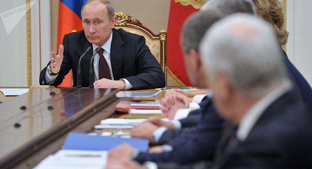 Réunion du Conseil de sécurité de Russie