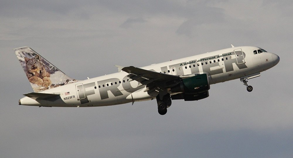 un avion de la compagnie américaine Frontier Airlines
