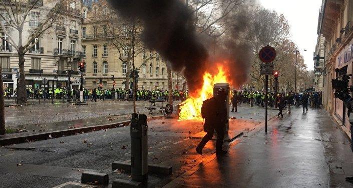 Gilets jaunes le 1 décembre à Paris