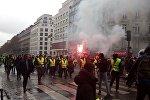 Gilets jaunes à Paris le 1 décembre
