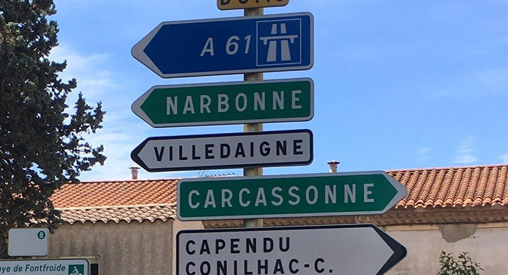 Le péage de Narbonne-Sud incendié après une nuit d'émeutes — Gilets jaunes