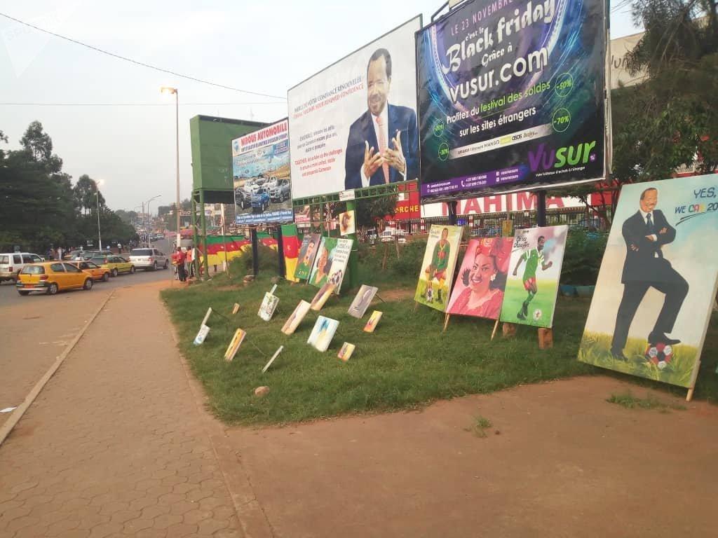 Espace marchand au centre-ville Yaoundé