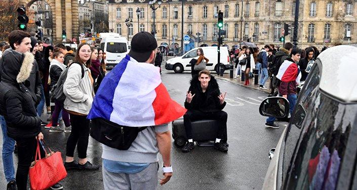 Une manifestation des lycéens à Bordeaux