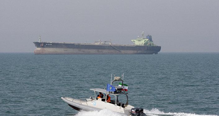 Pétrolier dans le golfe Persique