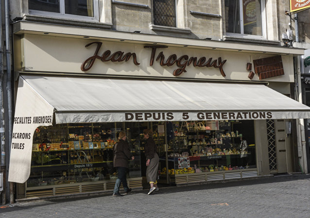 vitrine de la chocolaterie Jean Trogneux