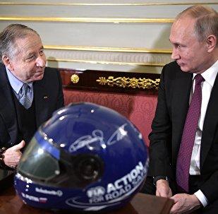 Vladimir Poutine et Jean Todt à Saint-Pétersbourg