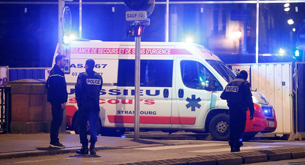 Des agents de police sur lieu de la fusillade à Strasbourg le 11 décembre