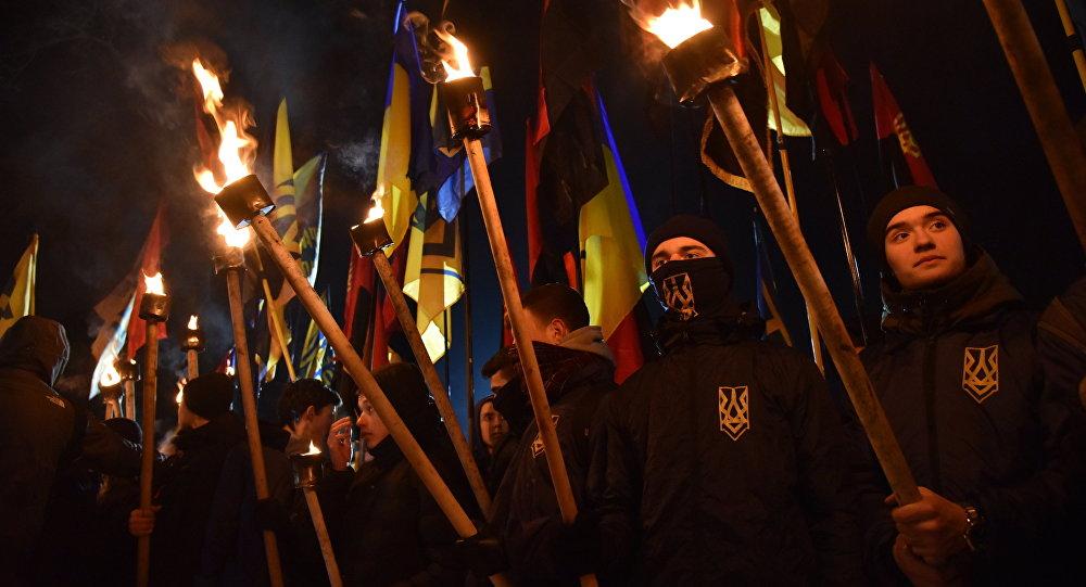 Marche de nationalistes à Lvov