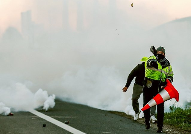 Des Gilets jaunes à Caen, en France (archive photo)