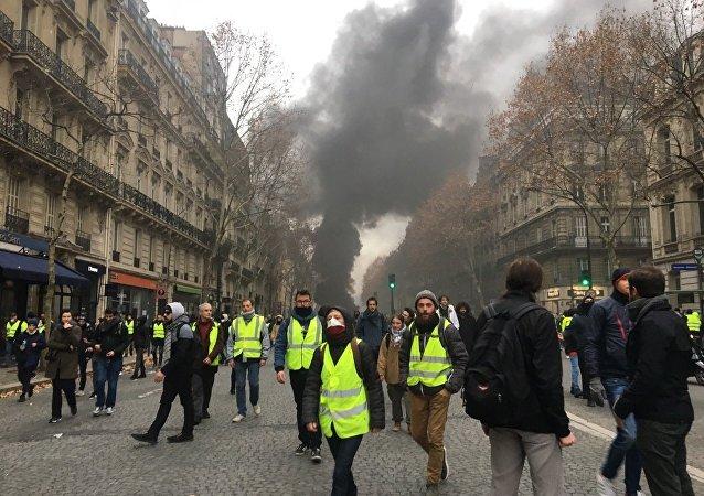 Manifestation des Gilets jaunes le 8 décembre 2018 (image d'illustration)