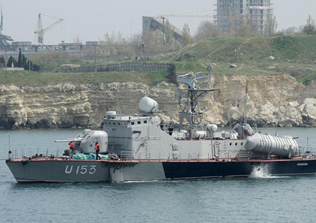 Une vedette de la Marine ukrainienne