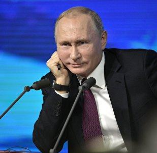 20 décembre 2018. Président RF Vladimir Poutine lors de la conférence de presse annuelle