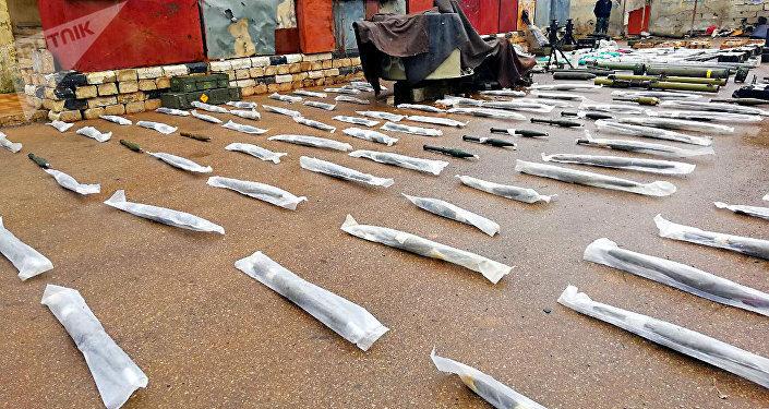 Armes découvertes à Deraa