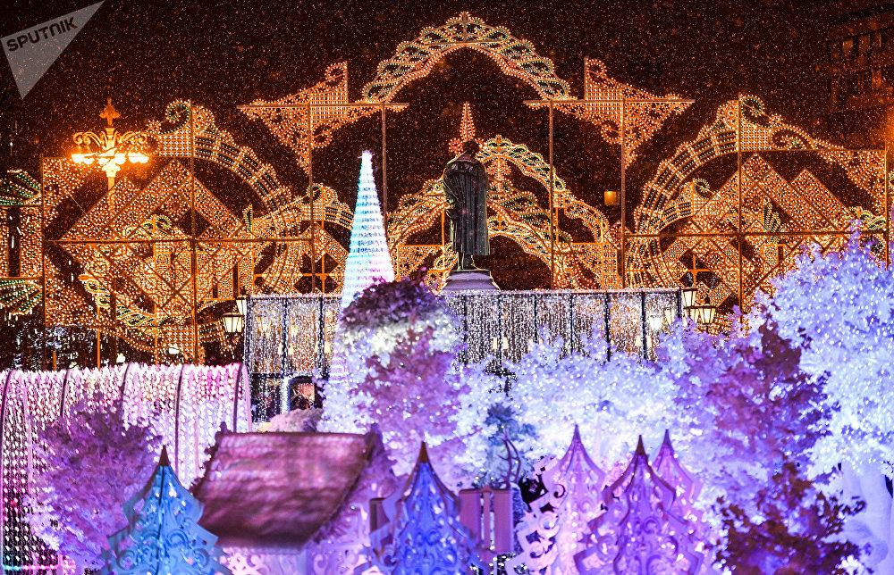 L'ouverture du festival Voyage vers Noël à Moscou