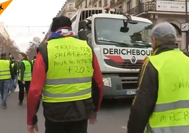 Des Gilets jaunes à Paris