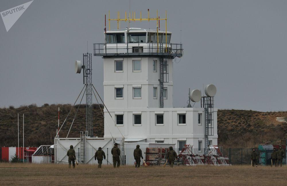 L'aérodrome Belbek en Crimée