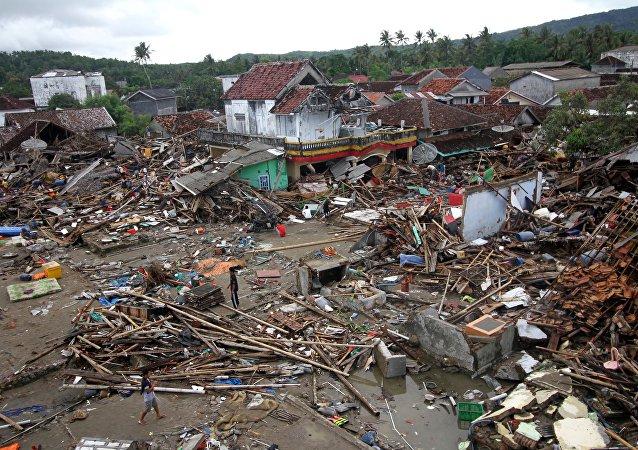 L'Indonésie frappée par un tsunami (décembre 2018)