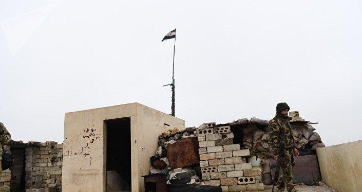 Forces syriennes déployées dans la zone de Manbij